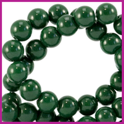 Glaskraal opaque Ø6mm dark eden green