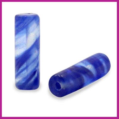 Natuursteen kraal tube rond iolite blue