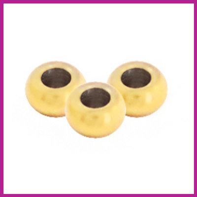 RVS stainless steel kralen rond 2mm goud
