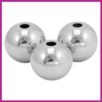 RVS stainless steel kralen rond 4mm zilver