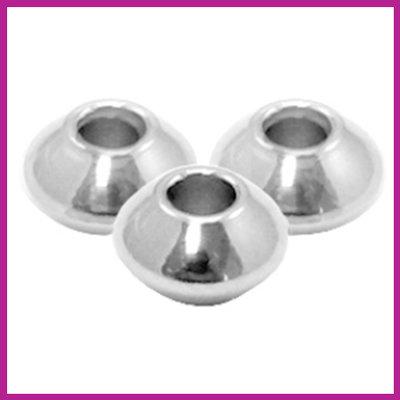 RVS stainless steel kralen disc 4mm zilver