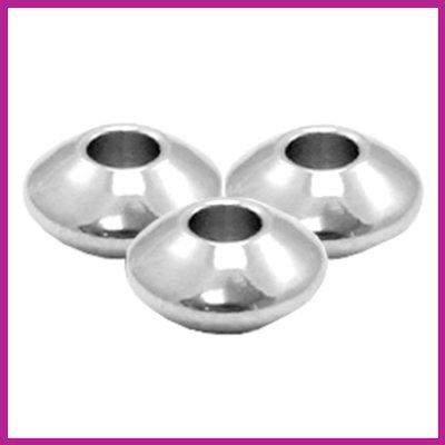 RVS stainless steel kralen disc 6mm zilver