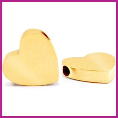 RVS stainless steel kraal hart goud