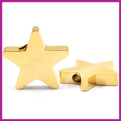 RVS stainless steel kraal ster goud