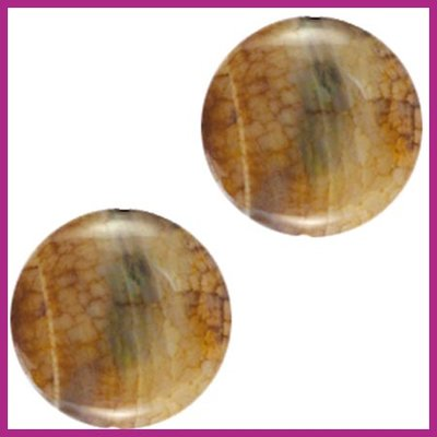 Agaat kraal rond grey opal ca. 25mm, Ø2,5mm