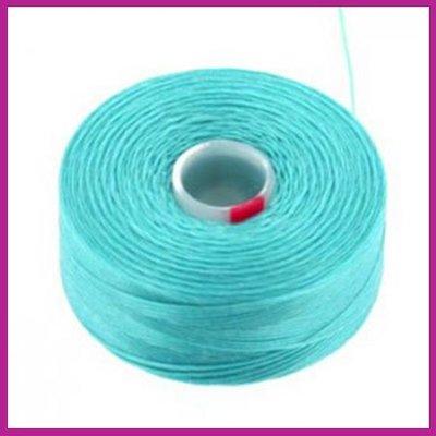 C-Lon D rijgdraad turquoise blue