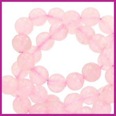 Natuursteen kraal Ø8mm ice pink