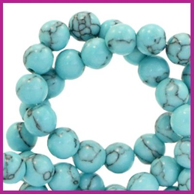 Natuursteen kraal Ø6mm turquoise blue