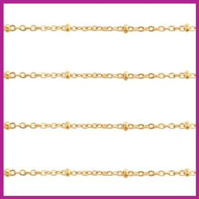 (RVS) Stainless steel jasseron ca. 49cm x 2mm goud