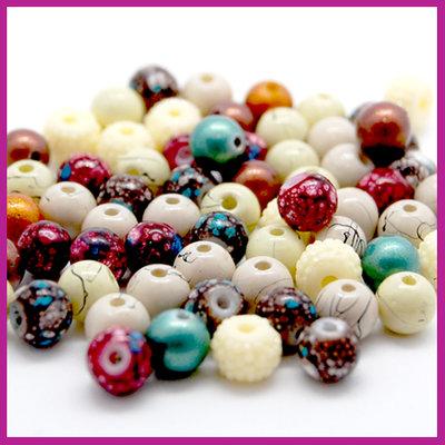 Glasmix stones & pearls