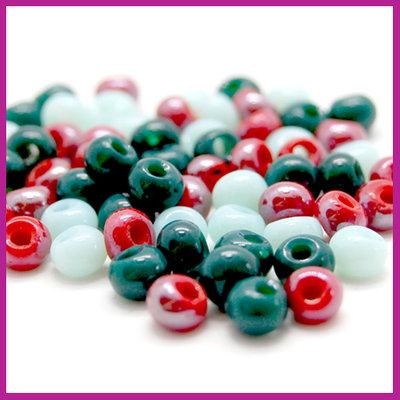 Glasmix asymmetrisch turquoise groen rood