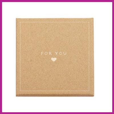 Sieraden (cadeau)doosje 'for you ♥' bruin