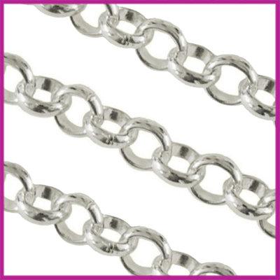 Jasseron metalen ketting ring schakel Ø6mm zilver