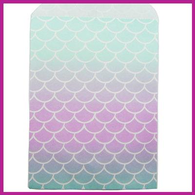 Cadeauzakje papier mermaid turquoise paars