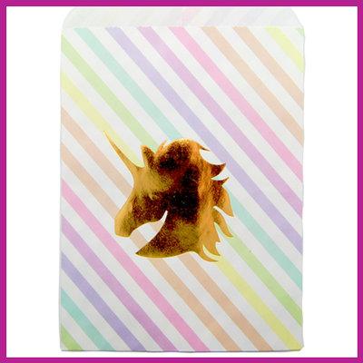 Cadeauzakje papier unicorn rainbow