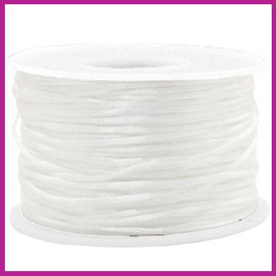 Satijnkoord Ø1,5 mm white
