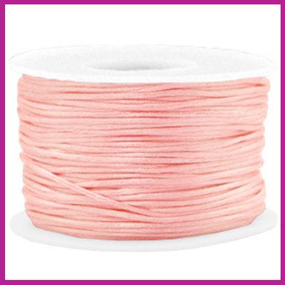 Satijnkoord Ø1,5 mm vintage pink