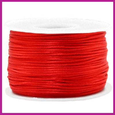 Satijnkoord Ø1,5 mm red