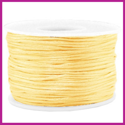 Satijnkoord Ø1,5 mm cream yellow