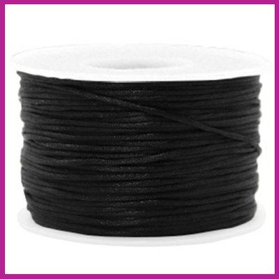 Satijnkoord Ø1,5 mm black