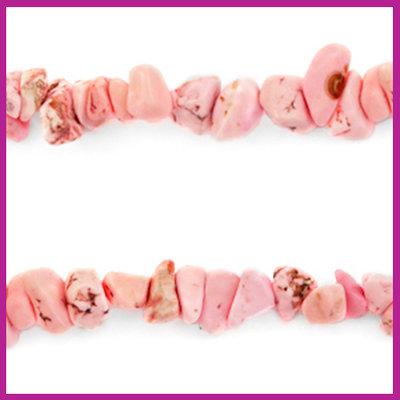 Chip stone kralen blossom pink