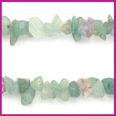 Chip stone kralen multicolor crystal green purple