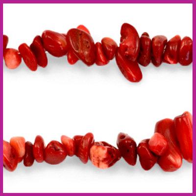 Chip stone kralen siam red