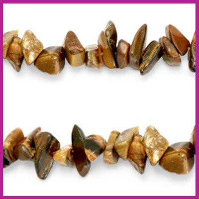Chip stone kralen brown