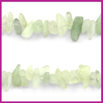 Chip stone kralen light chrysolite green