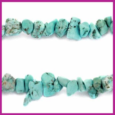 Chip stone kralen aqua blue