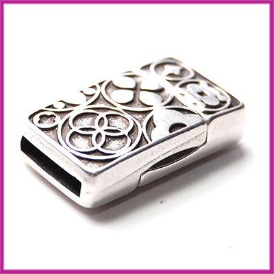 DQ metaal magneetslot rechthoek voor 10mm leer Antiek zilver