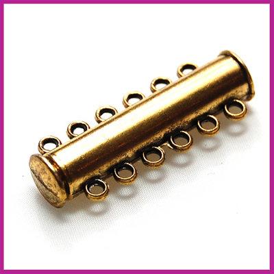 Magnetisch schuifslot met 6 oogjes 35x13mm AG