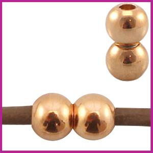 DQ metaal magneetslot voor 2mm leer Rosegold
