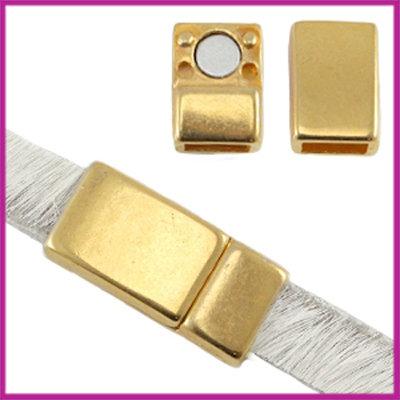 DQ magneetslot voor 5 / 6mm plat leer Goud
