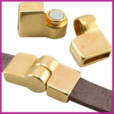 DQ metaal magneetslot scharnier voor 10mm leer Goud