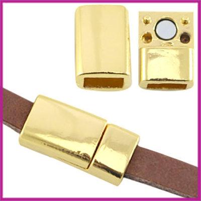 Basic Quality metaal magneetslot 6x2,9mm Goud