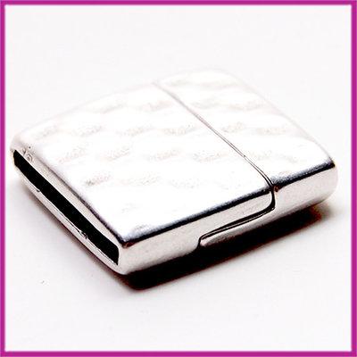 DQ metaal magneetslot voor 20mm leer blokjes Antiek zilver