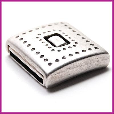 DQ metaal magneetslot voor 20mm leer Antiek zilver