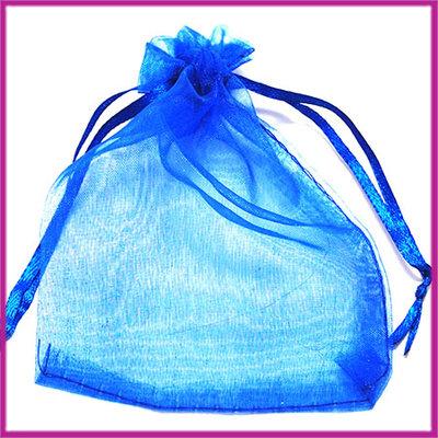 Organza zakje ca. 12x9cm Kobalt blauw