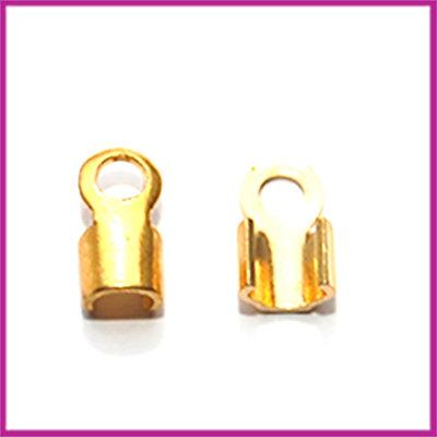 Veterklemmetje 7x4mm GPL goudkleurig