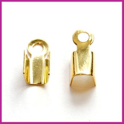 DQ veterklem 4mm GPL goudkleur