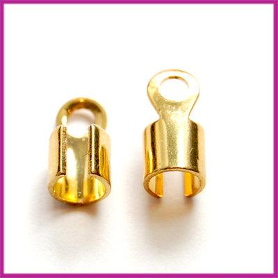 DQ veterklem rond 5x10mm GPL goudkleur