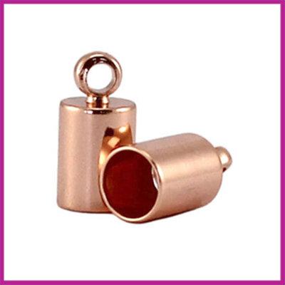 DQ eindkap Rose Gold 11x7.5mm (binnen ø6.5mm)