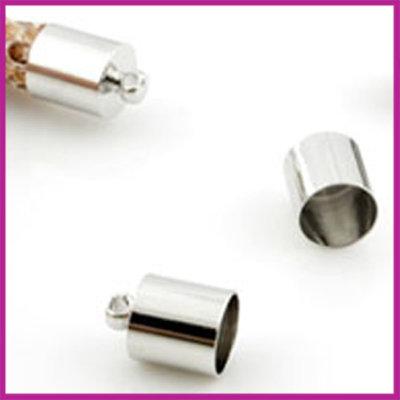 Eindkap SPL 11x7mm (binnen ø6.5mm) Zilver
