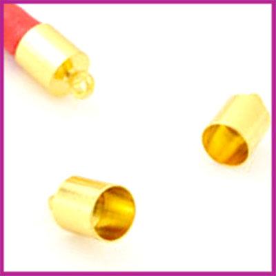 Eindkap GPL 11x7mm (binnen ø6.5mm) Goud