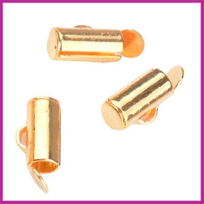 Metaal slider tube eindkap 8x4mm (ø3,5mm) Goud