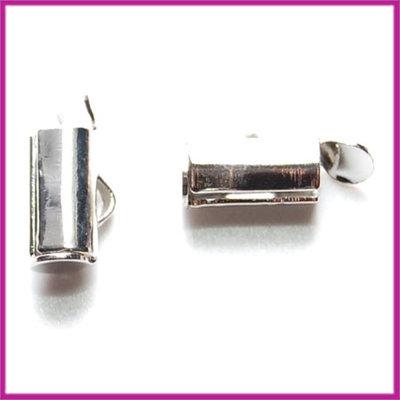Metaal slider tube eindkap 8x4mm (ø3,5mm) Antiek zilver