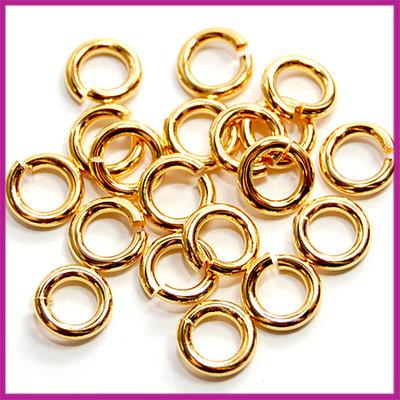 DQ metaal open ringetjes Ø4,5mm Goud