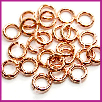 DQ metaal open ringetjes Ø6,5mm Rosegold