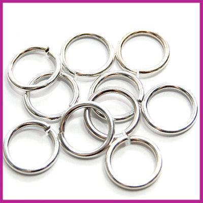 DQ metaal open ringetjes Ø10mm AZ Antiek Zilver